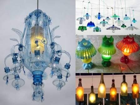 Lampu Gantung Dari Botol Plastik Bekas