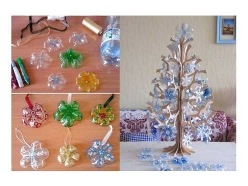 Pohon Natal Botol Bekas